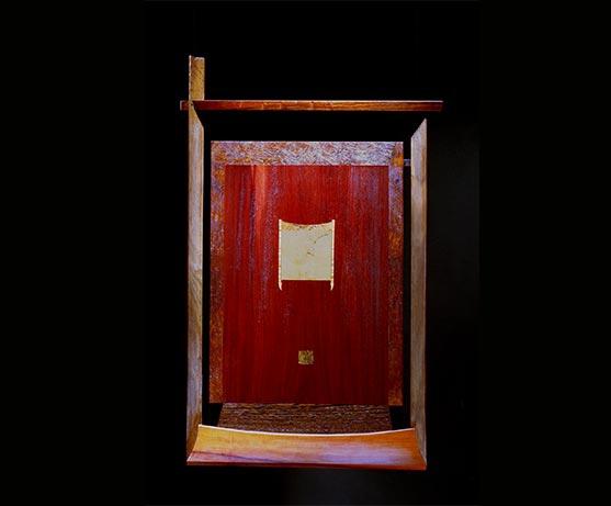 Piktogramm Wandbild Holzintarsien individuell gestalteter Rahmen