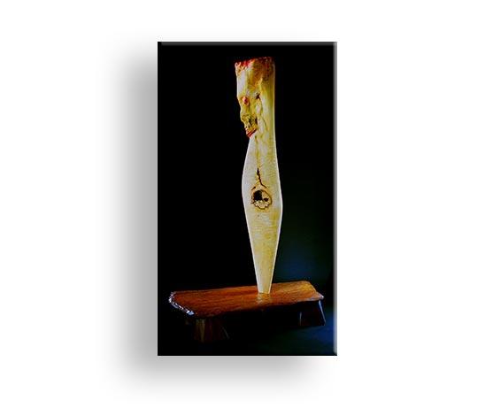 Erlkönig - Kombination von Naturform & gestaltete Form Skulptur