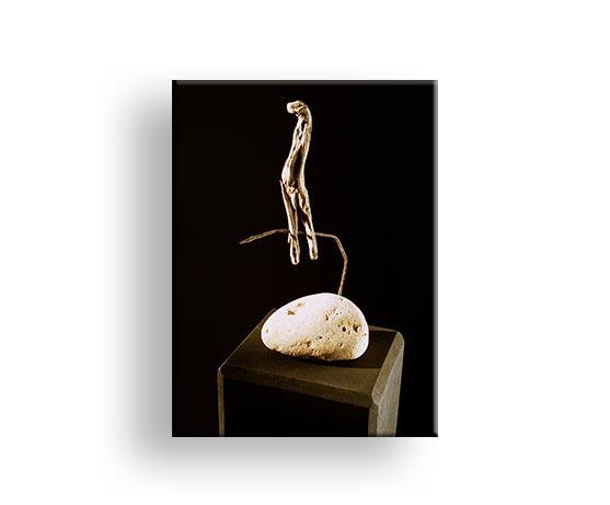 Drei Findlinge - Treibgut Skulptur