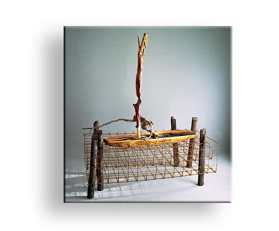 Fährman - Holz und Metallamierung Installation