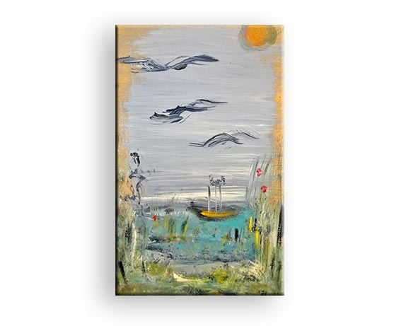 Heimflug - Acryl Gemälde von Charly Walter Schwarzwald Baar Kreis