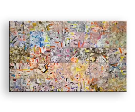 Patchwork - Acryl Bild von Charly Walter Künstler Villingen-Schwenningen