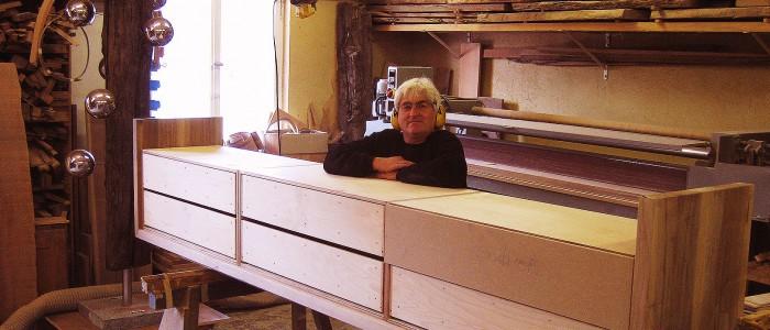 Sideboard Unterbau, passgenau, 3,50 m lang, sechs vollausziehbare Schubladen. Mit Schreinermeister Charly Walter
