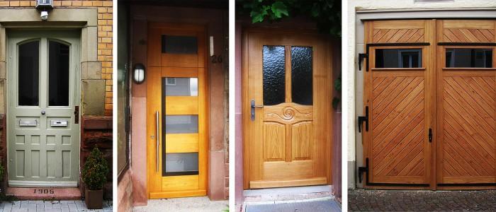 Handwerklich gefertigte Haustüren, Türen und Fenster mit Sondermassen
