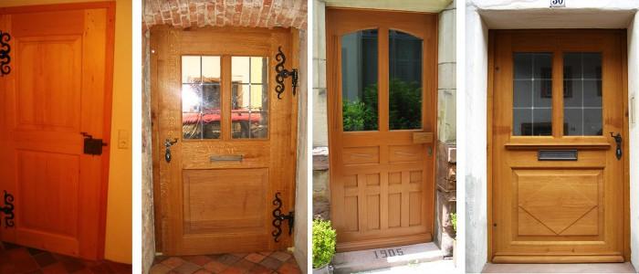 Anfertigungen und Nachbildungen von modernen und historischen Haustüren von der Holzwerkstatt Walter ausgeführt