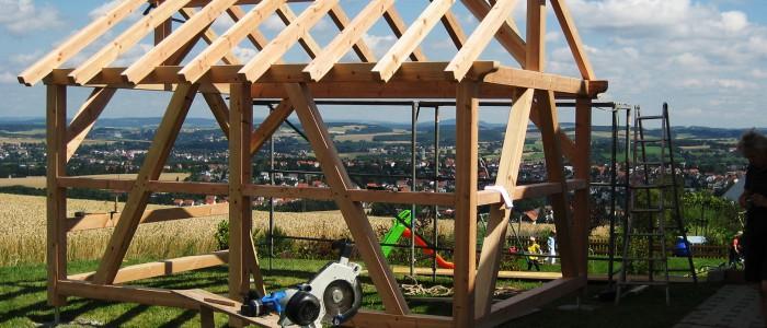 Fachwerkunterstand gebaut von Holzwerkstatt Walter Villingen